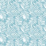Vector seamless pattern with tropical leaves. Beautiful print with hand drawn exotic plants. Swimwear botanical design. royalty free illustration