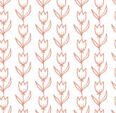 Vector seamless pattern with tulips. Vector backdrop. Endless pattern. Use for wallpaper, pattern fills, web page background Stock Photos