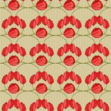 Vector seamless pattern with tulips Stock Photo