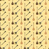 Vector seamless pattern with turkish musical instruments