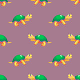 vector seamless pattern with turtles Stock Photos