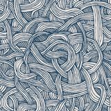 Vector seamless pattern of twisted tapes or spaghetti. stock photography
