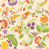 Vector seamless pattern in Ukrainian folk style Stock Photos