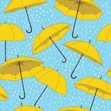Vector seamless pattern with umbrellas Royalty Free Stock Photos