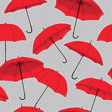 Vector seamless pattern with umbrellas Stock Photography
