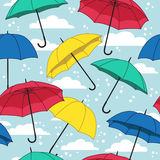 Vector seamless pattern with umbrellas Royalty Free Stock Image