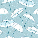 Vector seamless pattern with umbrellas Royalty Free Stock Photography