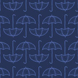 Vector seamless pattern with umbrellas. Vector seamless pattern with graphic umbrellas Stock Images