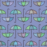 Vector seamless pattern with umbrellas. Vector seamless pattern with hand drawn umbrellas Stock Images