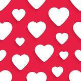 Vector seamless pattern for Valentine's Day with Stock Image