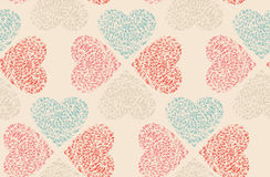 Vector seamless pattern of Valentine's Day in Royalty Free Stock Photo