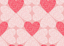 Vector seamless pattern of Valentine's Day in Royalty Free Stock Images