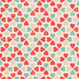 Vector seamless pattern of Valentine's Day in Royalty Free Stock Photos