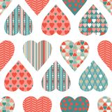 Vector seamless pattern of Valentine's Day in Stock Images