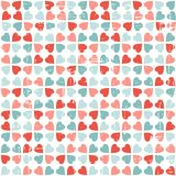 Vector seamless pattern of Valentine's Day in Royalty Free Stock Photography