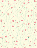 Vector seamless  pattern for Valentines day design. Royalty Free Stock Photography
