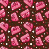 Vector seamless pattern for Valentines Day postcards or web back Stock Photo