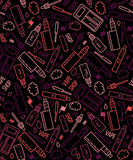 Vector seamless pattern of vape and accessories Stock Image