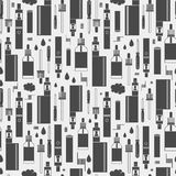Vector seamless pattern for vape shop Stock Images