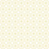Vector seamless pattern. Infinitely repeating modern geometrical texture consisting of intersecting thin lines which form irregular hexagonal linear shapes Stock Images