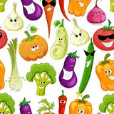 Vector seamless pattern with vegetables vector illustration