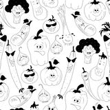 Vector seamless pattern with vegetables Royalty Free Stock Images