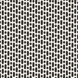 Vector geometric seamless pattern with vertical rounded lines. Vector seamless pattern with vertical rounded lines and circles. Simple monochrome repeat Stock Images