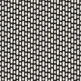 Vector geometric seamless pattern with vertical rounded lines. Vector seamless pattern with vertical rounded lines and circles. Simple monochrome repeat Stock Photos