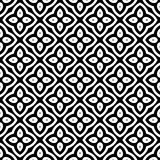 Black and white seamless curved pattern stock photography