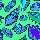 Vector seamless pattern with vibrant hand drawn stock illustration