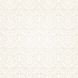 Vector seamless pattern in Victorian style. Stock Images