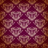 Vector seamless pattern in Victorian style. Stock Photography