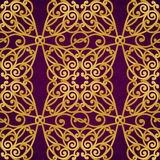 Vector seamless pattern in Victorian style. Royalty Free Stock Image