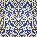 Vector seamless pattern in Victorian style. Stock Image