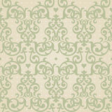 Vector seamless pattern in Victorian style. Element for design. Stock Image