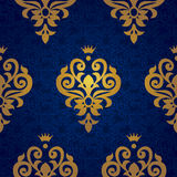Vector seamless pattern in Victorian style in gold decor. Royalty Free Stock Photography