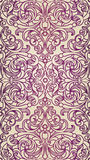 Vector seamless pattern in Victorian style. Purple vintage element for design. Ornamental floral tracery. Ornate filigree decor for wallpaper. Endless vintage Stock Images