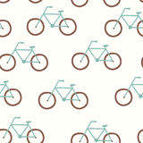 Vector seamless pattern with vintage bicycle Stock Photo