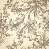 Vector seamless pattern for wallpaper design with floral swirls Stock Photography