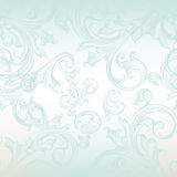 Vector seamless pattern for wallpaper design with floral swirls Royalty Free Stock Image