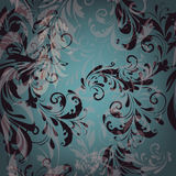 Vector seamless pattern for wallpaper design with floral swirls Royalty Free Stock Images