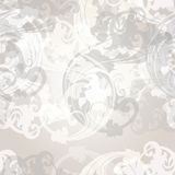 Vector seamless pattern for wallpaper design with floral swirls Royalty Free Stock Photo