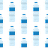 Vector seamless pattern with water bottles. Wrapping or packaging design. Stock Photo