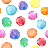 Vector seamless pattern with watercolor circles. Vector illustration for your design Stock Photography