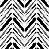 Vector seamless pattern with watercolor ethnic zigzag lines Stock Photo