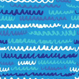 Vector seamless pattern with waves. Royalty Free Stock Images