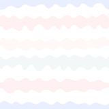 Vector seamless pattern, wavy lines pastel colors Stock Photos
