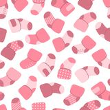 Vector seamless pattern for web design, prints etc. Repeating background with little socks can be copied without any Stock Photo
