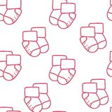 Vector seamless pattern for web design, prints etc. Repeating background with little socks can be copied without any Royalty Free Stock Image