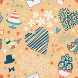 Vector seamless pattern with wedding elements Stock Photo